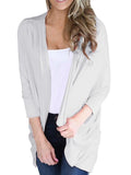Chloebuys Casual Comfty Long Sleeve Plain Sweater