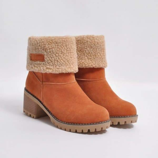 Chloebuy Winter Shoes Fur Warm Snow Boot