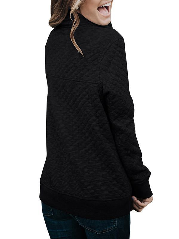 Chloebuy Zipper Casual Fall Sweatshirt