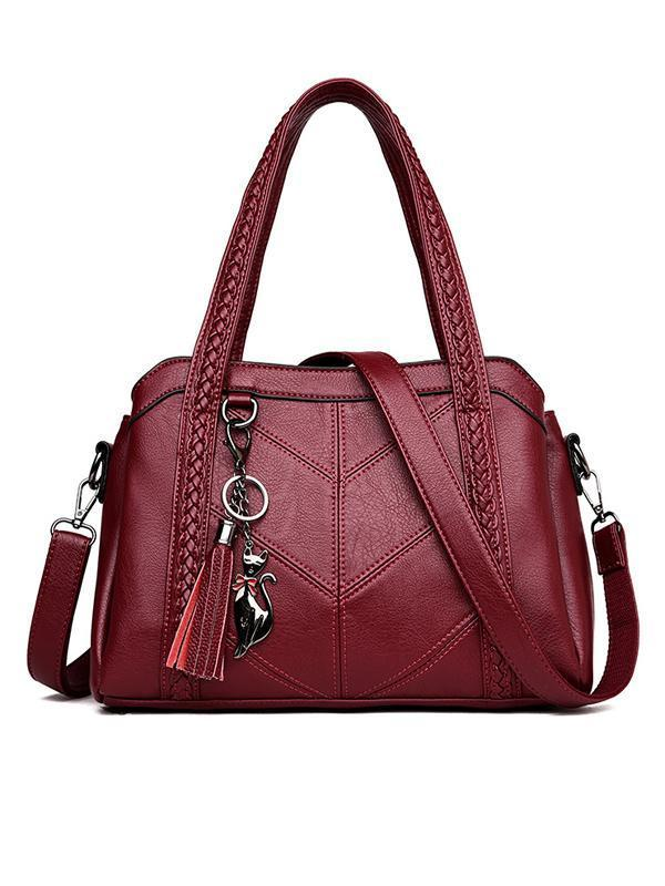 Chloebuy Fashion Soft PU Leather Handbag