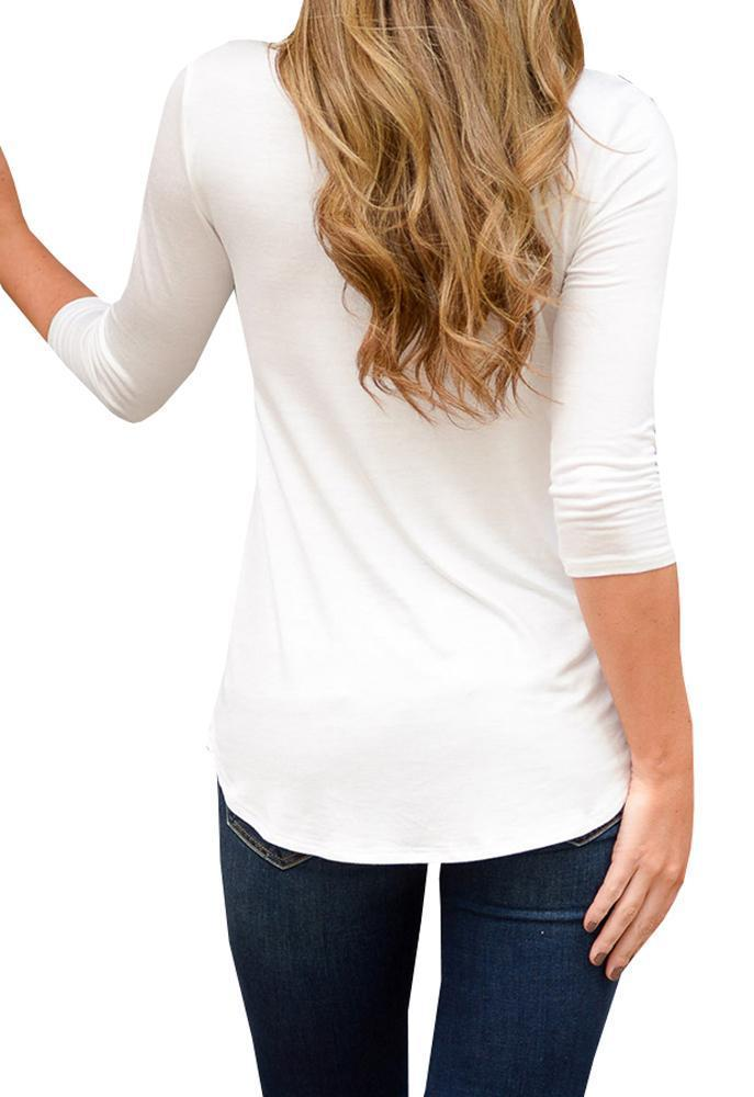 Chloebuy Solid Simple Loose Casual Style Shirt