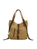 Chloebuy Casual Canvas Multifunction Bag