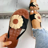 Chloebuy Casual Fashion Summer Flower Sandals