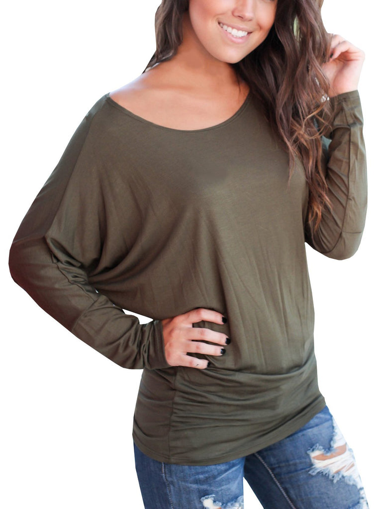Chloebuy Basic Casual Tunic Comfy Loose Hoodie