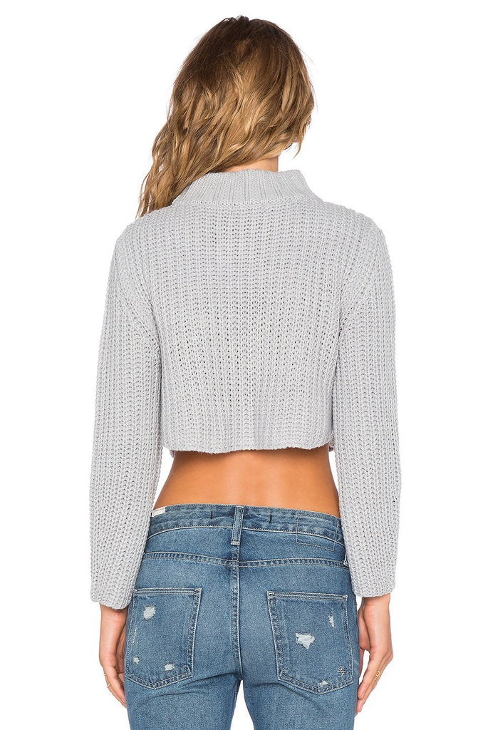 Chloebuy Fall Navel Sweater Sexy Casual Pullover Stylish