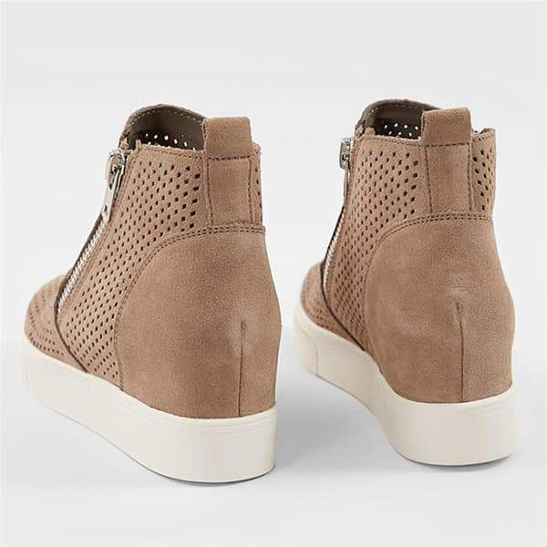Chloebuy Platform Side Zipper Sneakers