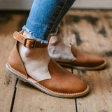 Chloebuy Casual Ankle Buckle Flats (Ship in 24 Hours)