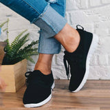 Chloebuy Adjustable Laces Suede Sneakers
