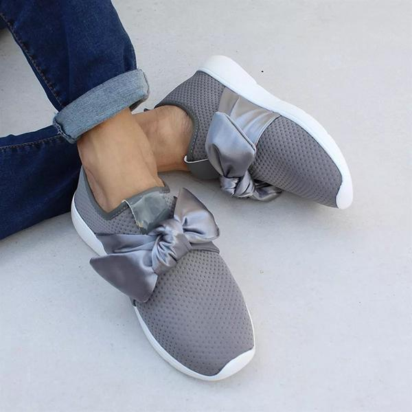 Chloebuy Casual Comfy Bow Sneakers