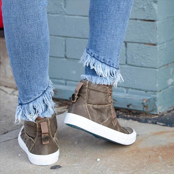 Chloebuy Casual Daily High Top Stylish Flat Sneakers
