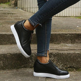 Chloebuy Womens All Season Zipper Casual Sneakers