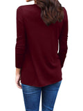 Chloebuy Round Neck Cotton T-Shirt