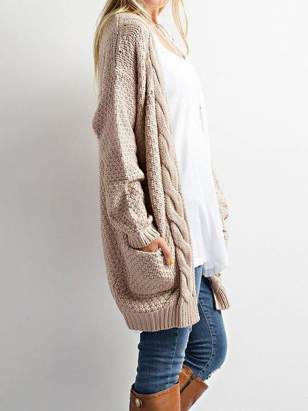 Chloebuy Knit Sweater Cardigan Coat