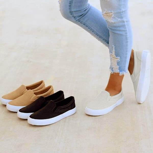 Chloebuy Slip On Running Flat Sneakers