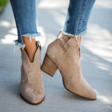 Chloebuy World Awaits Faux Suede Heeled Boots