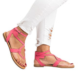 Chloebuy Strappy Gladiator Thongs Sandals