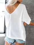 Chloebuy Fashion Casual Cotton Loose Tops