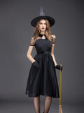 Chloebuy New Black Temperament Witch Night Ghost Dress