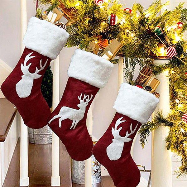 Chloebuy Christmas Stockings Kids Gift Stocking Bags