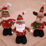 Chloebuy 3-Pack Christmas Decoration Creative Cloth Santa Claus Doll Mini Doll Toy
