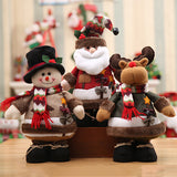 Chloebuy Christmas 3-Pack Plush Dolls Toy