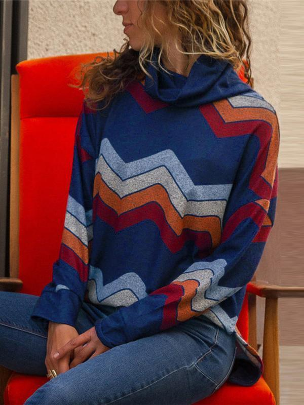Chloebuy Striped Loose Knit Pullover