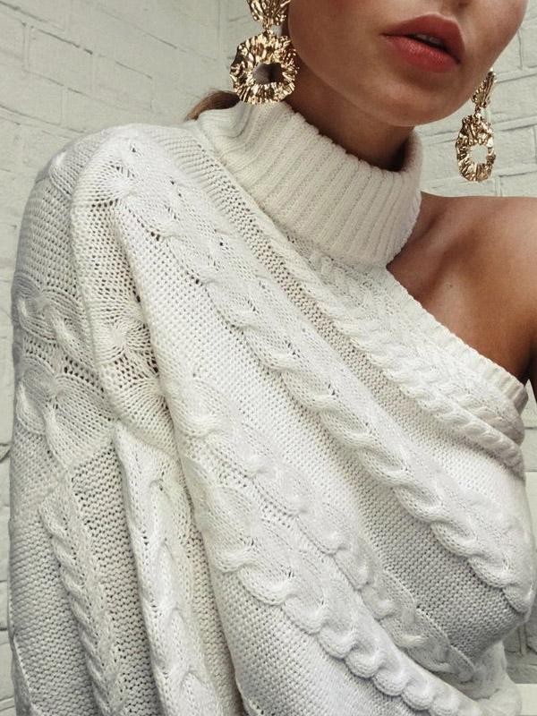 Chloebuy Sexy Knitting High-neck Sweater