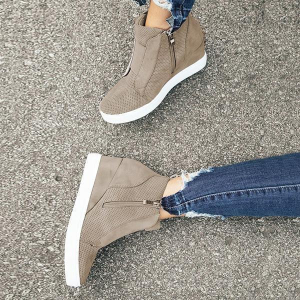 Chloebuy Fashion Stylish Daily Wedge Sneakers