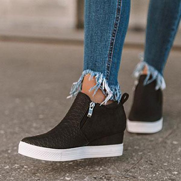 Chloebuy Wedge Daily Comfy Sneakers (Ship in 24 Hours)
