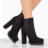 Chloebuy Women Fashion Pull-on Boots (2 Color)