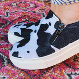 Chloebuy Women Fashion Slip-On Flat Sneakers