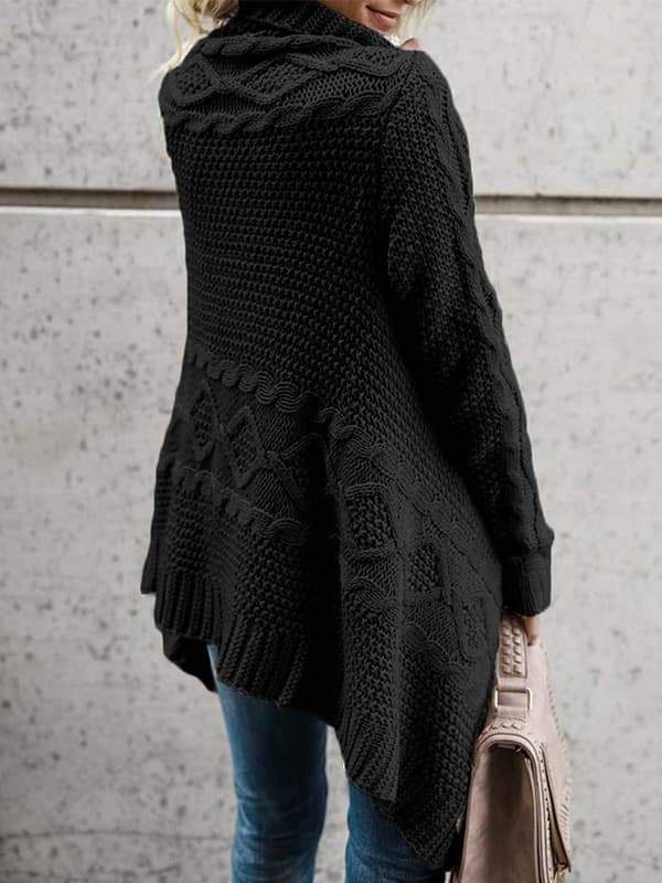 Chloebuy Coat Fashion Knitted Sweater Cardigan