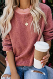 Chloebuy Plush Round Neck Beige Sweatershirt (6 Colors)