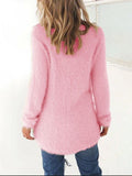 Chloebuy Winter Daily Warm Solid Sweater