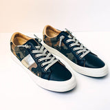 Chloebuy Summit Faux Leather Camo Sneakers