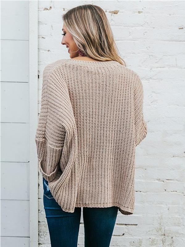 Chloebuy Loose Knitted Pullover Sweater