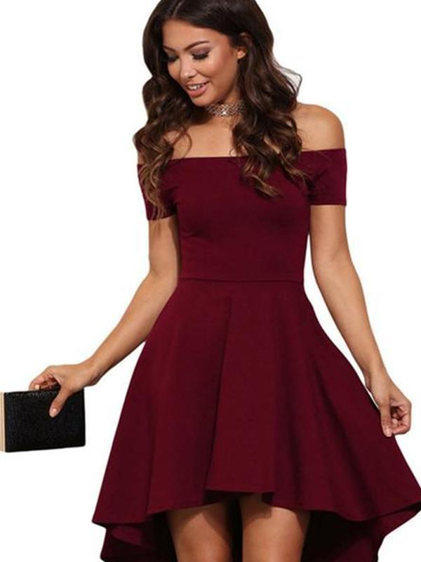 Chloebuy Off Shoulder Vintage Party Dress