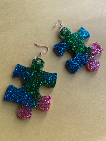 Puzzled earrings