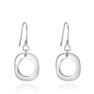 Sterling Silver Square Drop Earrings - Skyla Jewels Australia
