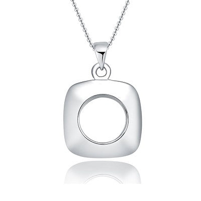 Sterling silver square pendant necklace - Skyla Jewels Australia