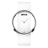 Hollow Round Face White Watch. - Skyla Jewels Australia
