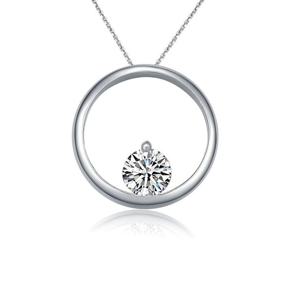 Sterling silver round pendant necklace - Skyla Jewels Australia
