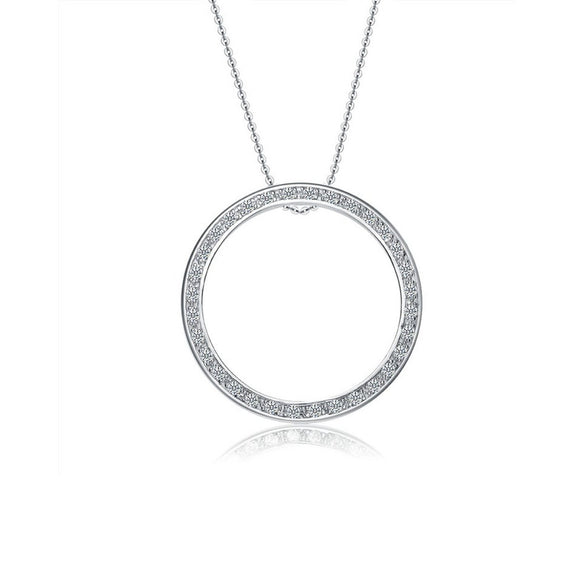 Sterling silver large circle necklace - Skyla Jewels Australia
