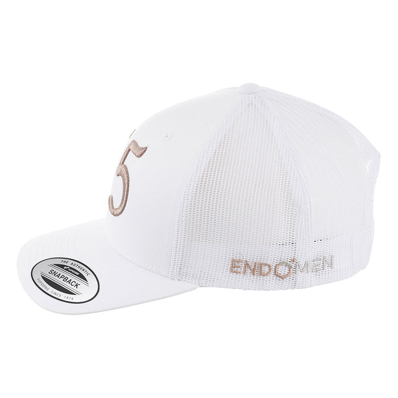 EndoMen '55' in Rose Gold White Trucker Cap - Limited Edition