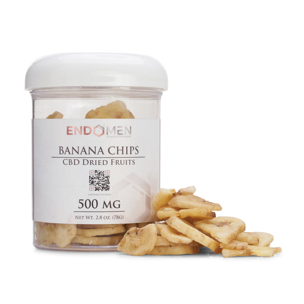 Hemp Derived CBD Banana Chips 500mg Wide