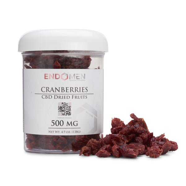 Hemp Derived CBD Cranberries 500mg Wide