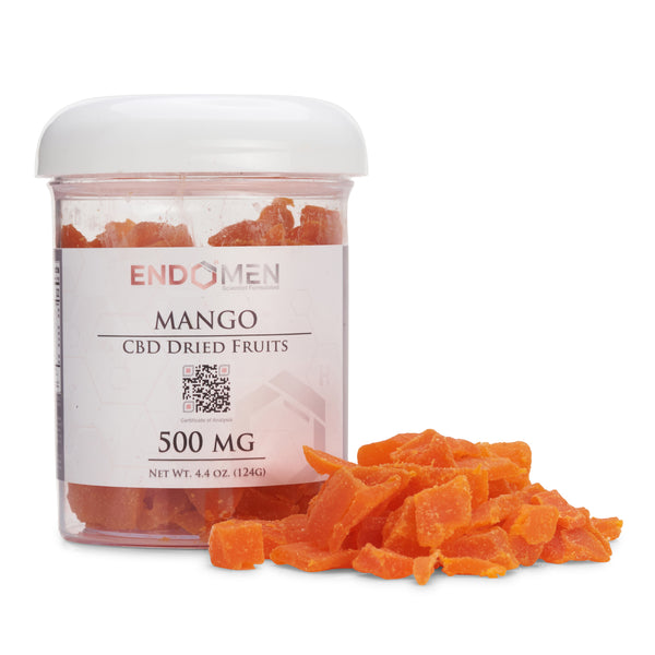 Hemp Derived CBD Mango Bits 500mg Wide