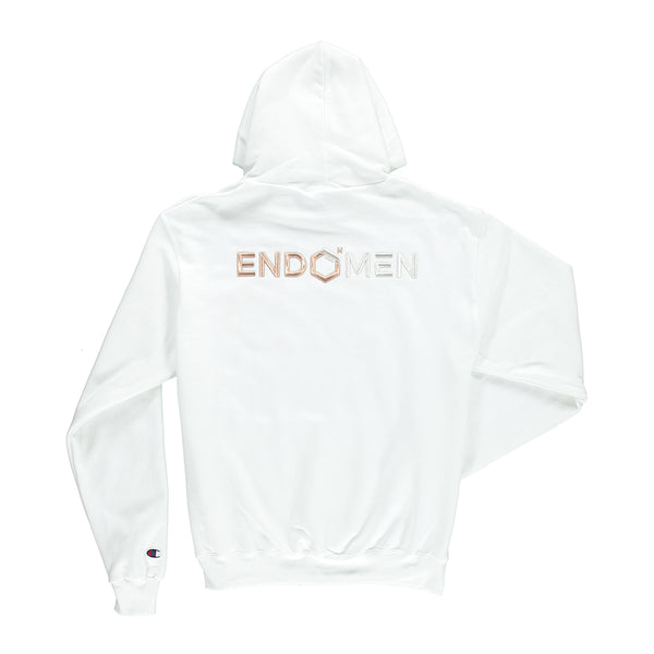 EndoMen 55 in Rose Gold White Champion Hoodie