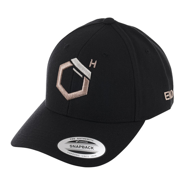 EndoMen Logo in Rose Gold Black Cap