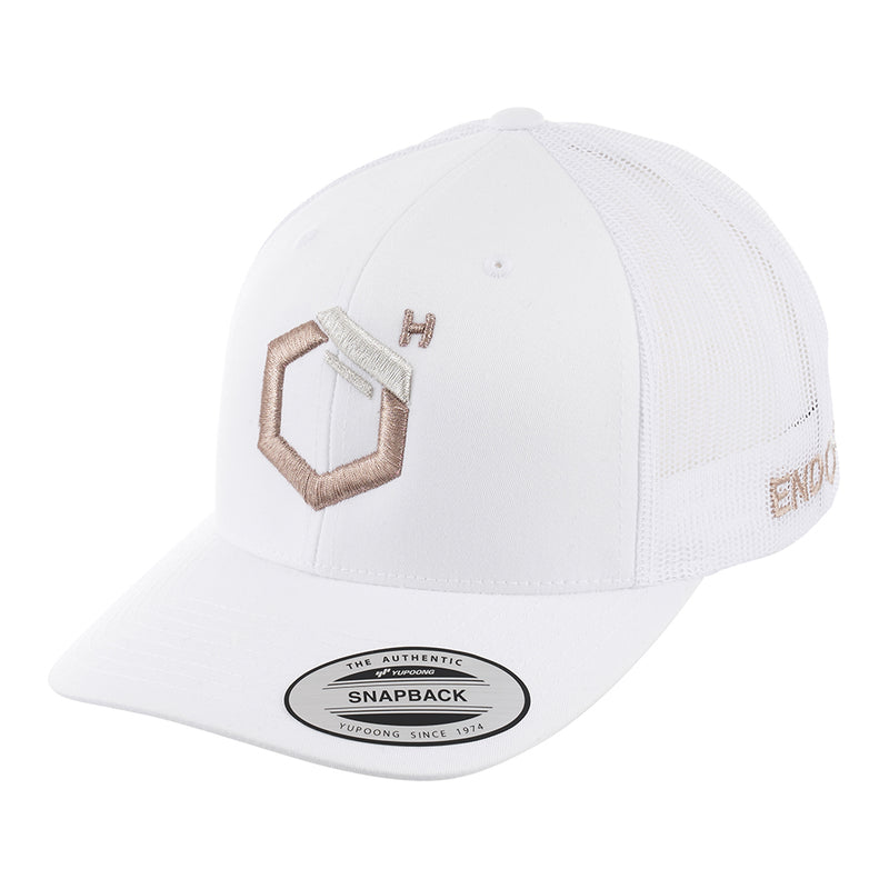 EndoMen Logo in Rose Gold White Cap